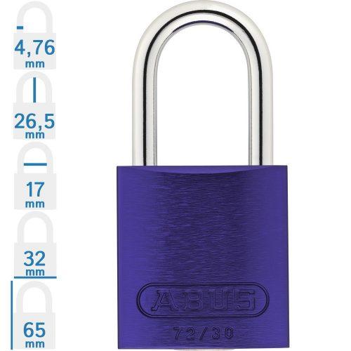 ABUS 72/30 LOTO munkavédelmi kizáró lakat - Kék - 017896