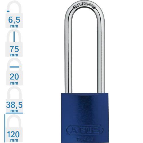 ABUS 72/40HB75 KA - Több lakat azonos kulccsal - Kék - 186929 - Rendelésre, 3-4 hét!