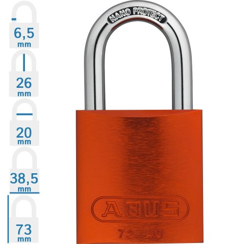 ABUS 72/40 LOTO munkavédelmi kizáró lakat - Kék - 451225