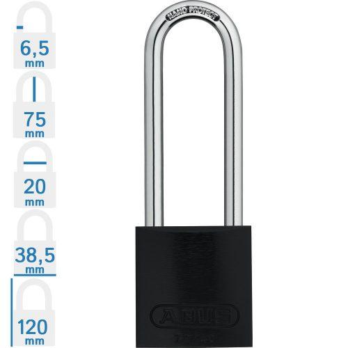 ABUS 72/40HB75 KA - Több lakat azonos kulccsal - Kék - 186929 - Rendelésre, 2-3 hét!