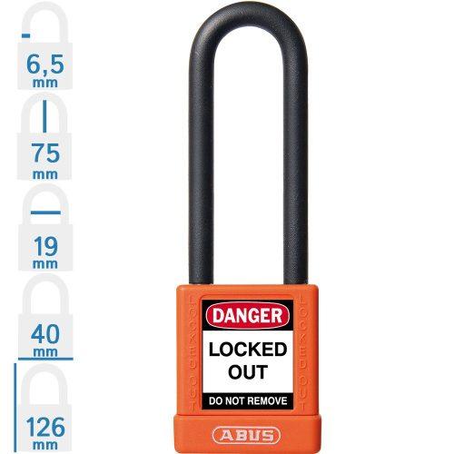 ABUS 74/40 HB75 LOTO munkavédelmi kizáró lakat