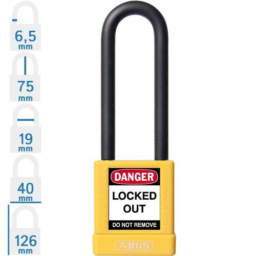 ABUS 74/40 HB75 KA LOTO munkavédelmi kizáró lakat (egykulcsos lakatok)