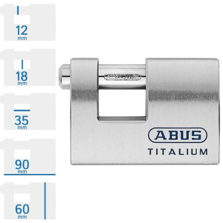 ABUS 98TI/90 tömb lakat, pontfuratos kulccsal