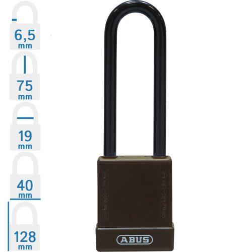 ABUS 76/40 LOTO munkavédelmi kizáró lakat, műanyag kengyellel