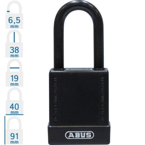 ABUS 76/40 KA LOTO munkavédelmi kizáró lakat, műanyag kengyellel