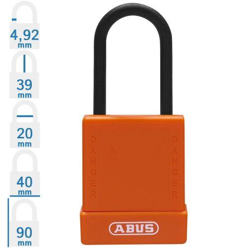 ABUS 76PS/40 KA LOTO munkavédelmi kizáró lakat, műanyag kengyellel