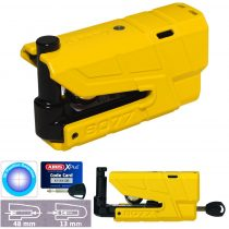 Abus Granit Detecto X-Plus 8077 riasztós motor féktárcsazár - Yellow