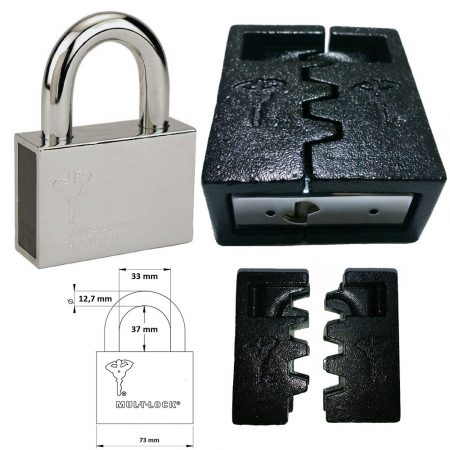 Mul-T-Lock C-13 Interactive+ biztonsági lakat (kivehető kengyeles) + C-13 lakatpajzs