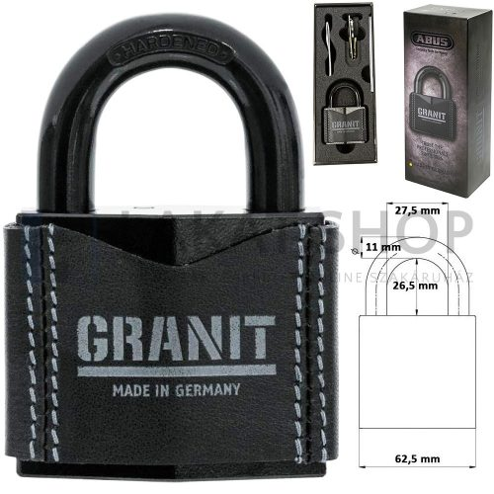 ABUS Granit 37/55 biztonsági lakat - LIMITED EDITION (bőrborítás, díszdoboz) - Utolsó darab!