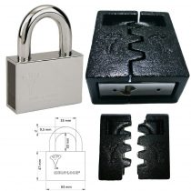 Mul-T-Lock C-10 Interactive+ biztonsági lakat (kivehető kengyeles) + C-10 lakatpajzs