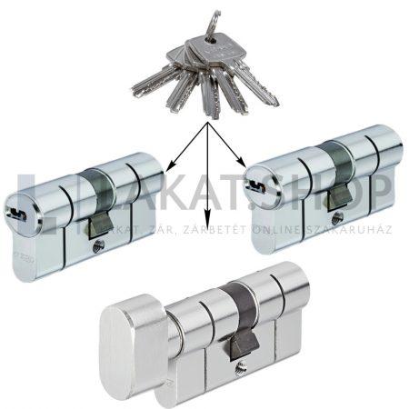 Több zárbetét azonos kulccsal - Egykulcsos zárbetétek - Zárbetétek azonos kulcs működtetéssel - Egységkulcsos zárbetétek